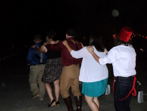Sanger Wedding Conga Line