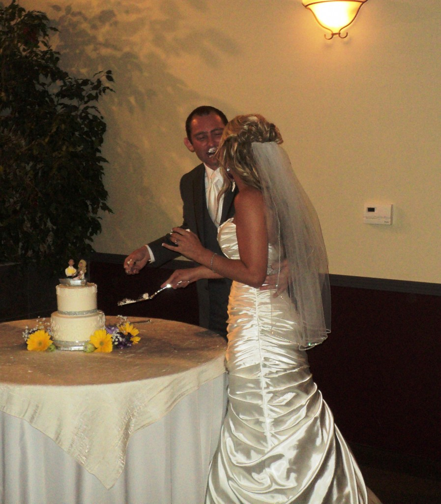 Cake Cutting Ward Wedding